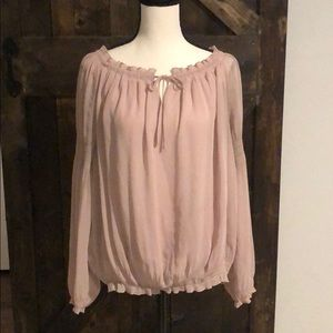 Cute light pink boho pirate shirt